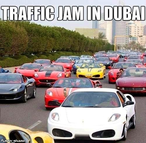 traffic jam in dubai