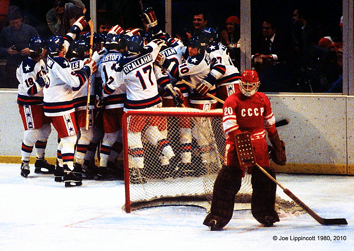 Winning goal scores for Miracle on Ice, February 22, 1980, Lake Placid, NY.
