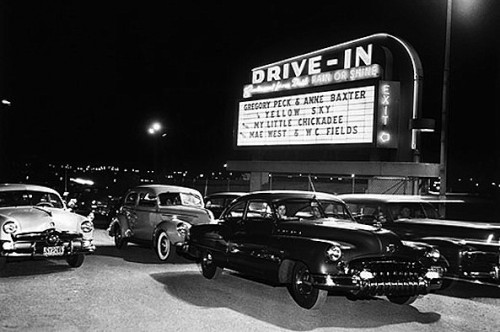 drive in movie theater entrance