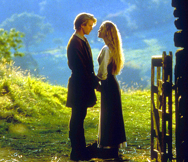 princess bride kissing field