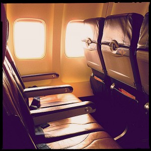 empty row on the airplane 3