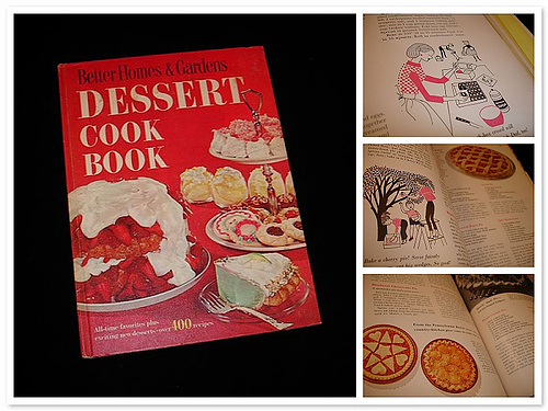 vintage cookbook dessert