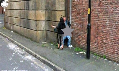 caught on google earth street view adults