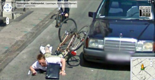 caught on google earth street view bike crash