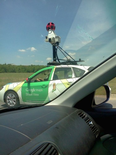 caught on google earth street view car