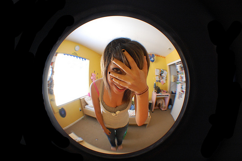 fisheye lens girl