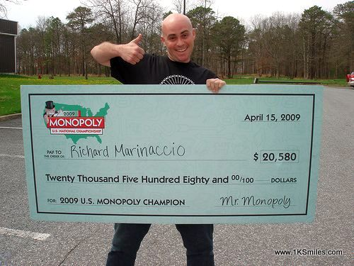 oversized check monopoly