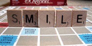 smile scrabble board