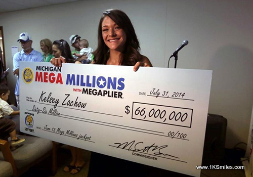 big check mega millions michigan lottery Kelsey Zachow 1ksmiles