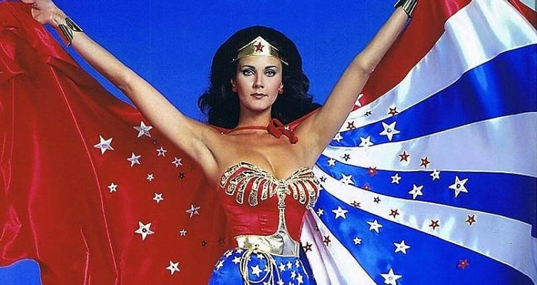 wonder woman Lynda Carter arms up