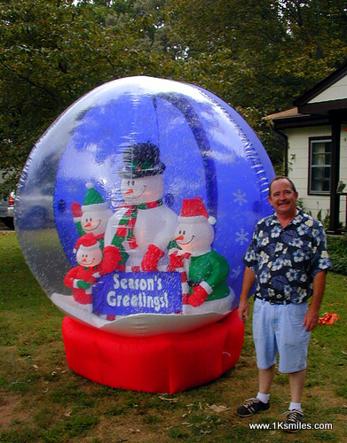 inflatable lawn decorations snow globe with man christmas halloween thanksgiving