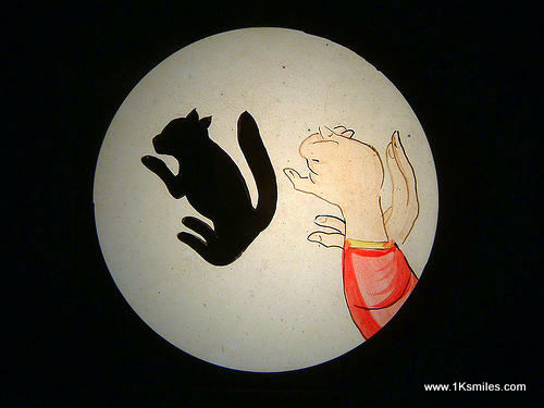 hand shadow puppets squirrel puppet