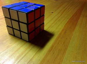 rubiks rubik's cube on table