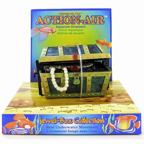806 those little fish tank toys that operate with air for Fish tank treasure chest