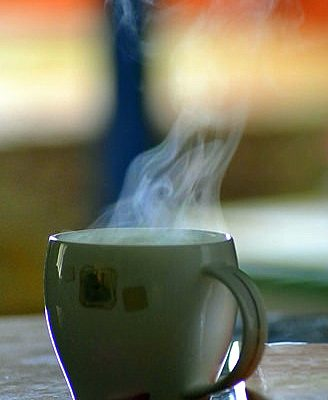 hot tea white cup