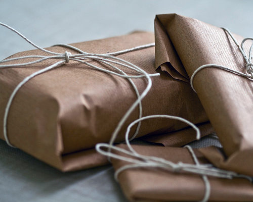 brown paper packages tied up with strings 2 christmas shopping