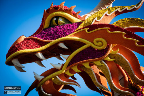 Tournament of Roses Parade float dragon chinese