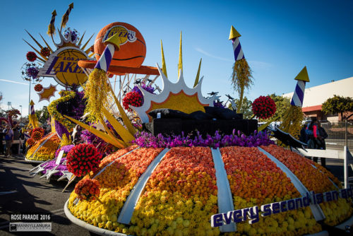 Rose Parade float lakers